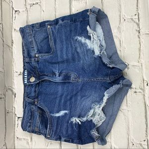 SWS denim Miami high rise distressed jean shorts